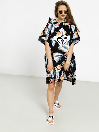 Poncho Roxy Pass This On Again Solid Wmn (anthracite tropical)