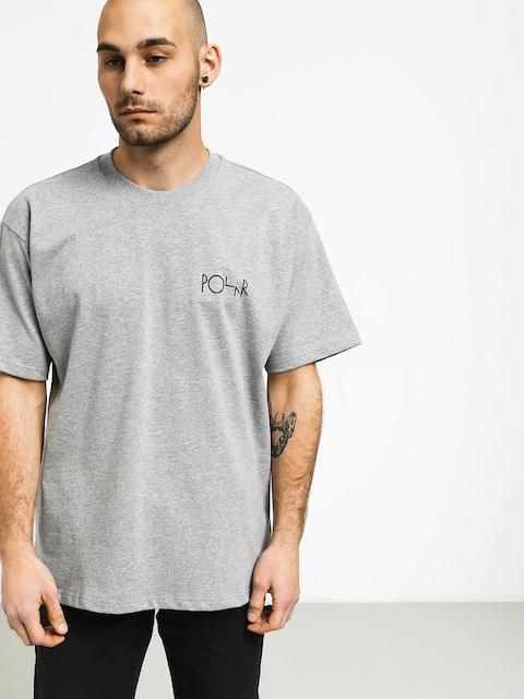 T-shirt Polar Skate Fill Logo (heather grey/black)