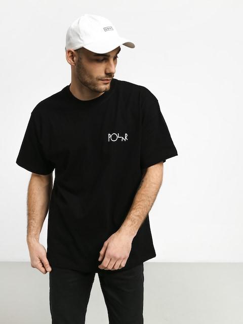 T-shirt Polar Skate Stroke Logo (black/white)