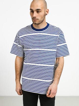 T-shirt Polar Skate Stripe Logo (dark blue)