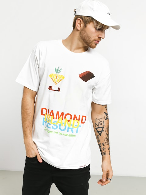 T-shirt Diamond Supply Co. Diamond Resort (white)