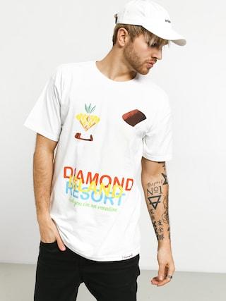 T-shirt Diamond Supply Co. Diamond Resort (white)