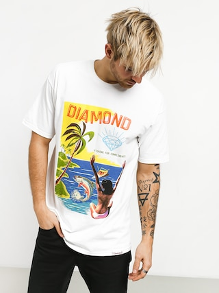 T-shirt Diamond Supply Co. Fishing For Compliments (white)