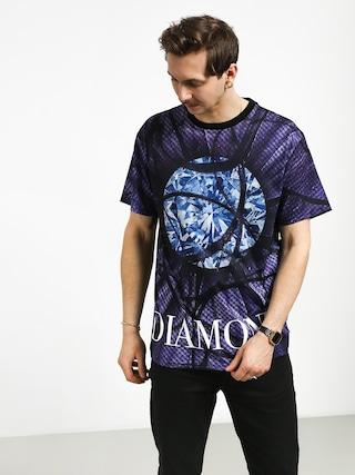 T-shirt Diamond Supply Co. Distorted Flower (black)