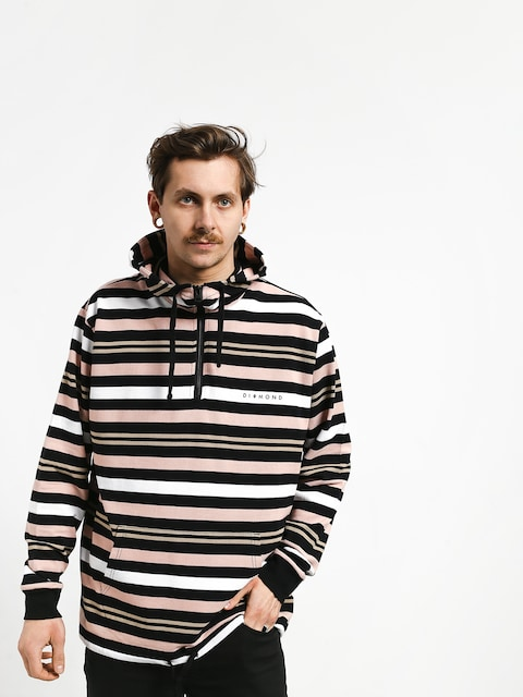 Bluza z kapturem Diamond Supply Co. Marquise Striped ZHD (black)