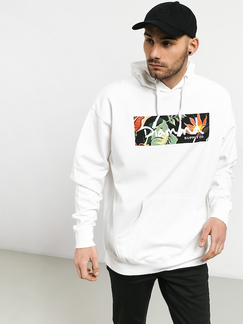 Bluza Diamond Supply Co. Paradise Box Logo (white)