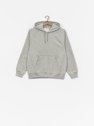 Bluza z kapturem Carhartt WIP Chase HD Wmn (grey heather/gold)