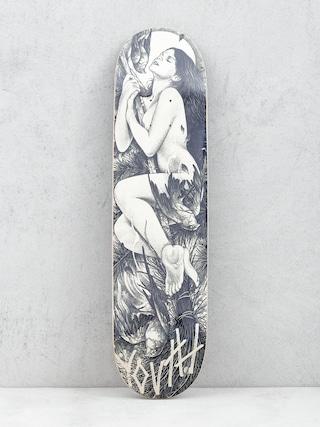 Deck Youth Skateboards Hunt (white/black)