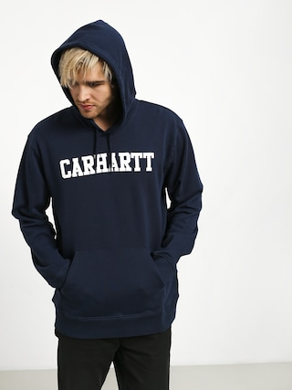 Bluza z kapturem Carhartt WIP College HD (blue/white)