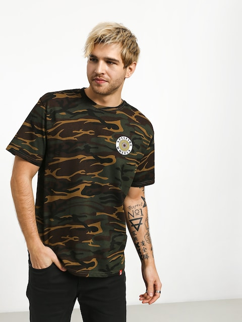 T-shirt Spitfire Og Circle (camo/white/yellow)