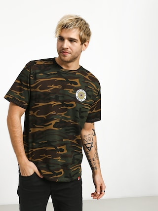 T-shirt Spitfire Og Circle (camo/white/yellow)