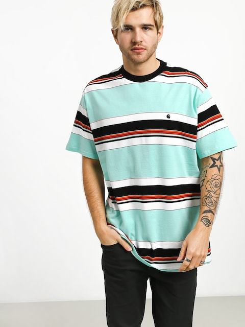 T-shirt Carhartt WIP Ozark (ozark stripe/light yucca/black)