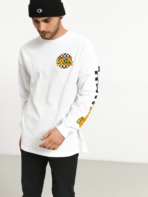 Longsleeve DGK Ghetto Fire (white)