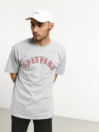 T-shirt Spitfire Old E Fill (grey/red)