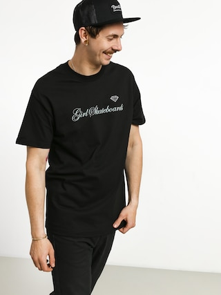 T-shirt Girl Skateboard Supply Script (black)