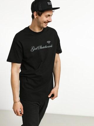 T-shirt Girl Skateboard Supply Script (black)