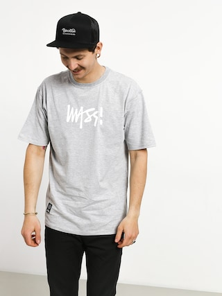 T-shirt MassDnm Signature Medium Logo (light heather grey)