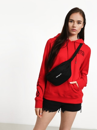 Bluza z kapturem Volcom Vol Stone HD Wmn (red)