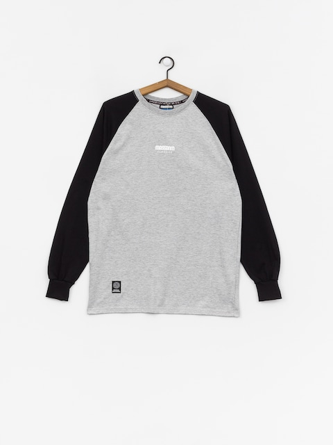 Longsleeve MassDnm Classics Small Logo (light heather grey/black)
