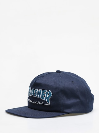 Czapka z daszkiem Thrasher Outlined ZD (navy/grey)