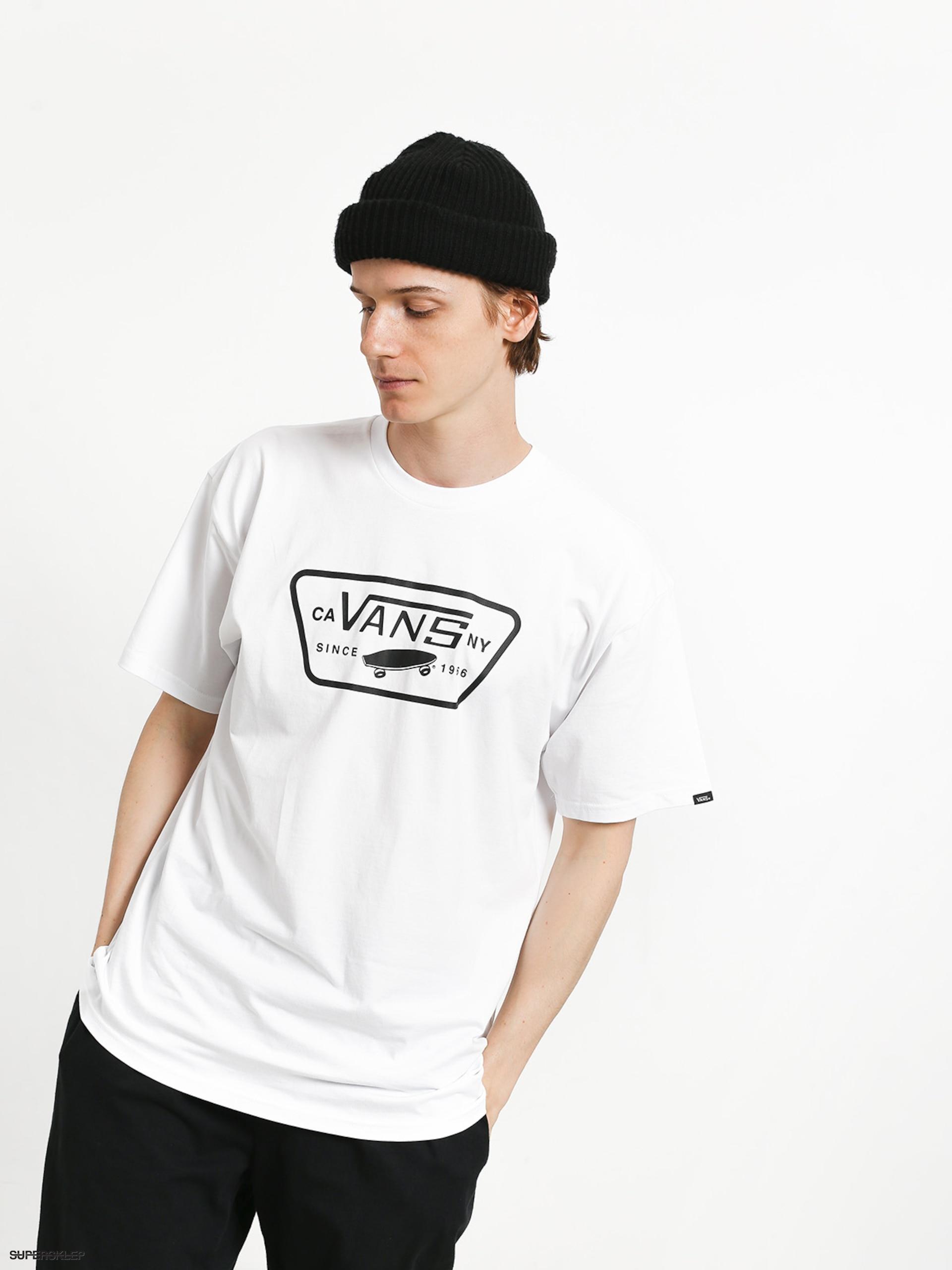 T shirt Vans Full Patch (whiteblack)