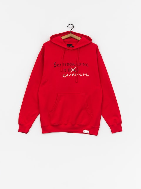 Bluza z kapturem Diamond Supply Co. Skate Crime HD (red)