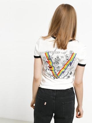T-shirt Volcom Go Faster Ringer Wmn (swh)