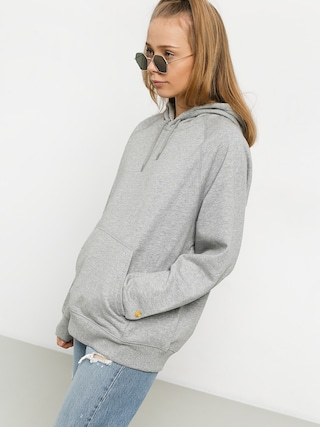 Bluza z kapturem Carhartt WIP Chase HD Wmn (grey heather/gold)