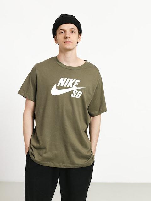 T-shirt Nike SB Sb Dri Fit (medium olive/white)