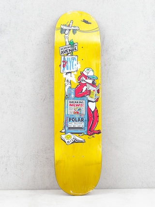 Deck Polar Skate Aaron Herrington Breaking News (yellow)