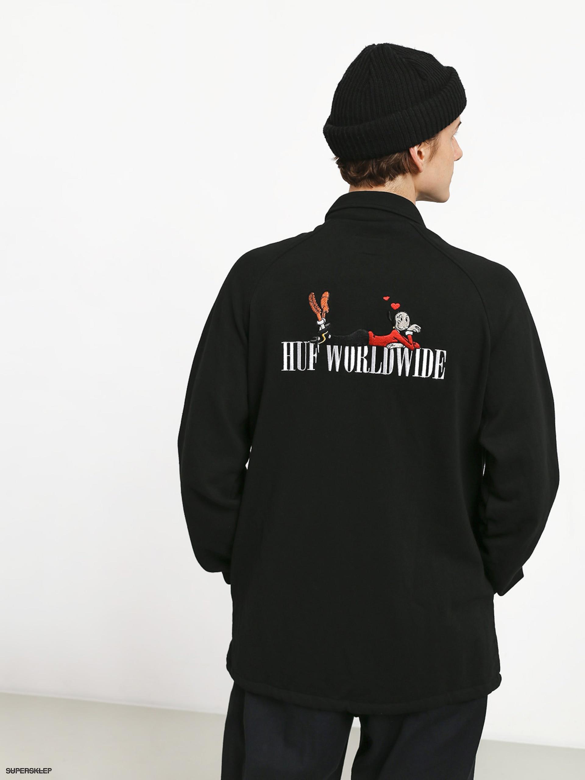 znana marka wiele stylów wyprzedaż hurtowa Kurtka HUF Olive Fleece (black)