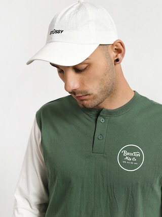 T-shirt Brixton Wheeler 3/4 Slv Henley (washed chive)