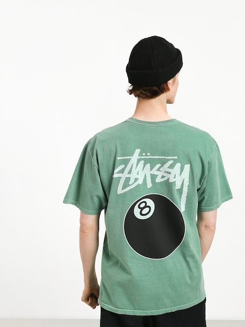 T-shirt Stussy 8 Ball Pig Dyed (sage)