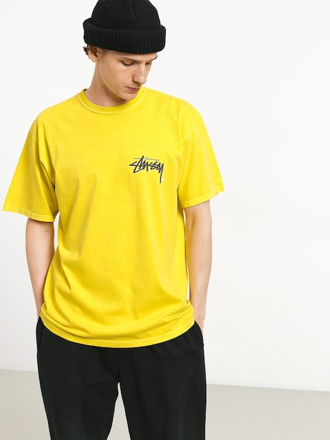 T-shirt Stussy Stock C Pig Dyed (lime)