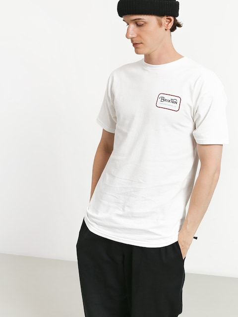 T-shirt Brixton Grade Stt (white/red)