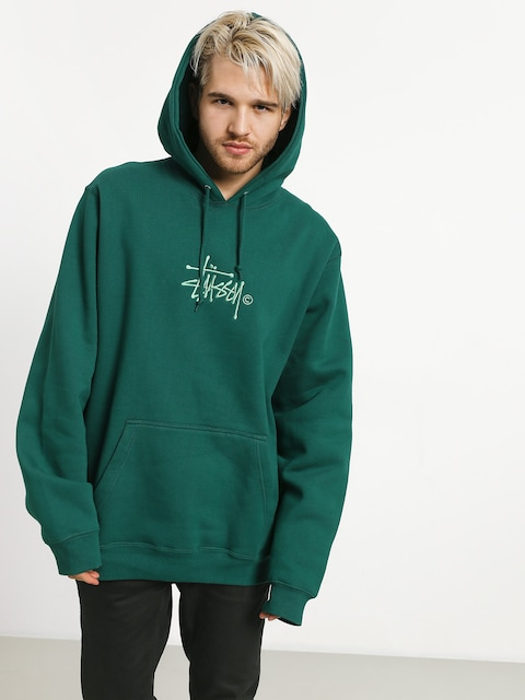 Bluza z kapturem Stussy Basic Copyright App HD (green)
