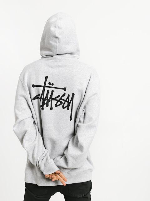 Bluza z kapturem Stussy Basic Stussy HD (ash heather)