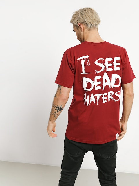 T-shirt Diamante Wear I See Dead Haters (burgundy)