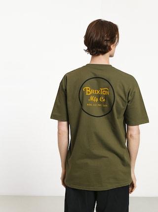 T-shirt Brixton Wheeler II Stnd (olive/black)