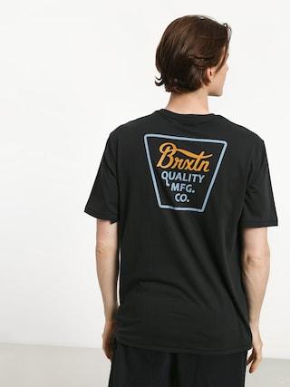 T-shirt Brixton Potrero Prem (washed black/light blue)