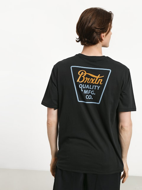 T-shirt Brixton Potrero Prem (washed black/light blue)