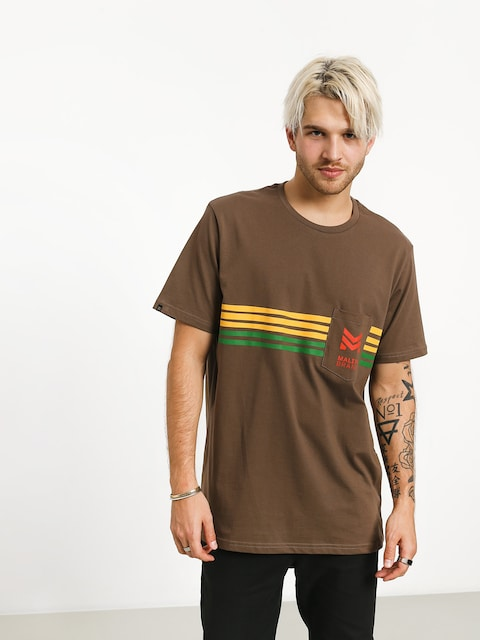 T-shirt Malita Stripes (brown)