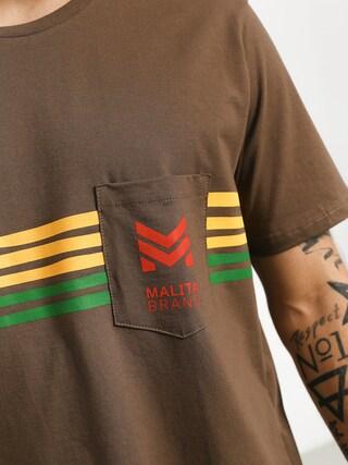 T-shirt Malita Stripes (brown)