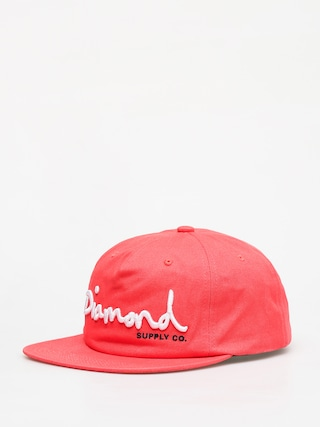 Czapka z daszkiem Diamond Supply Co. Og Script Snapback ZD (coral)