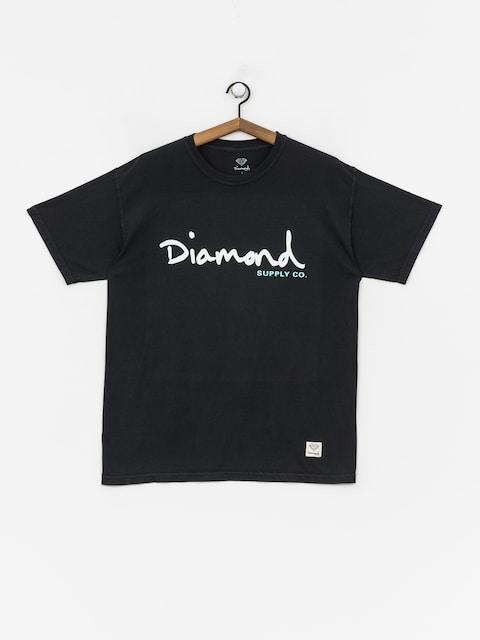 T-shirt Diamond Supply Co. Og Script Overdye