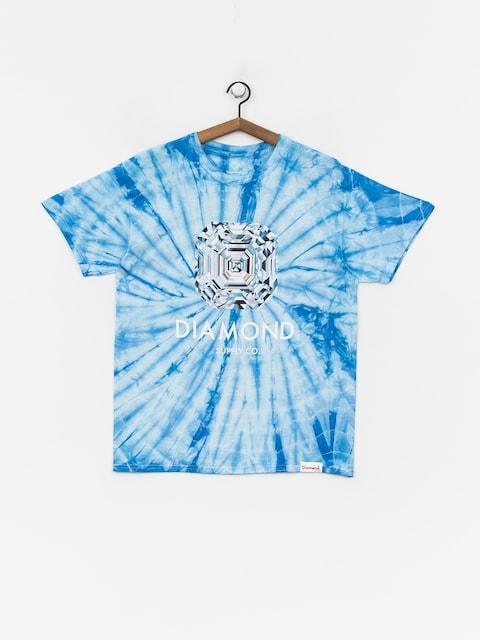 T-shirt Diamond Supply Co. Asscher Cut Tie Dye (blue)