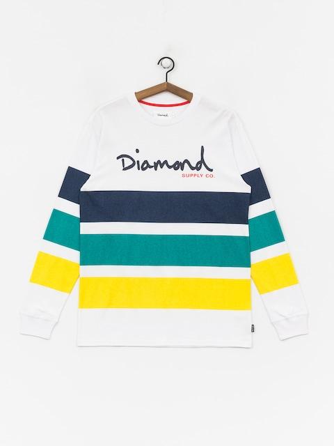 Longsleeve Diamond Supply Co. Og Script Striped (white)