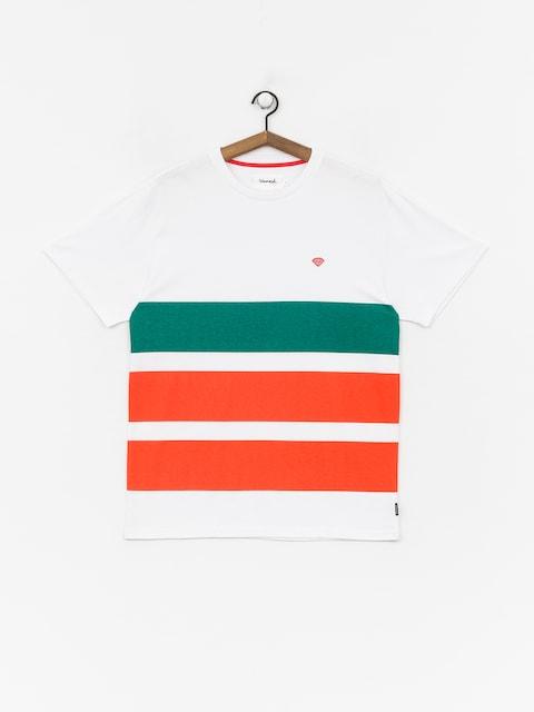T-shirt Diamond Supply Co. Brilliant Patch Striped (white)
