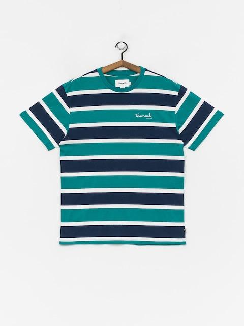 T-shirt Diamond Supply Co. Mini Og Script Striped (teal)