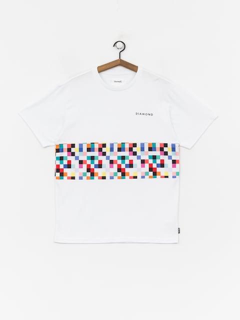 T-shirt Diamond Supply Co. Pixel Panel (white)